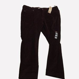 WT Levi's Classic Straight Corduroy Burgundy Pants